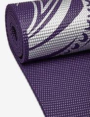 Gaiam - 6mm Yoga Mat Aubergine Madallion - joogamatot ja tarvikkeet - purple - 2