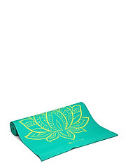 6MM Yoga Mat Reversible - TURQUOISE, GREEN