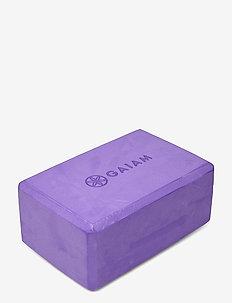 GAIAM YOGA BLOCK PURPLE - joogablokit ja vyöt - purple