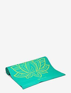 6MM Yoga Mat Reversible - yogamatter & utstyr - turquoise, green
