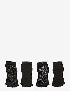 Toeless Grippy Socks Black/Grey 2-Pack - kousen - black/grey
