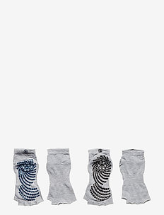Toeless Grippy Socks Indigo/Black 2-Pack - kousen - indigo/black