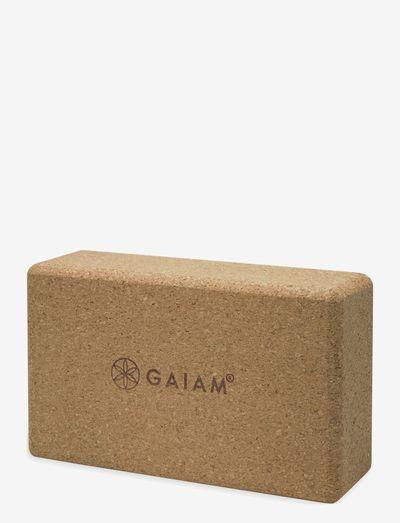 Yoga Block - yogablokker og stropper - cork