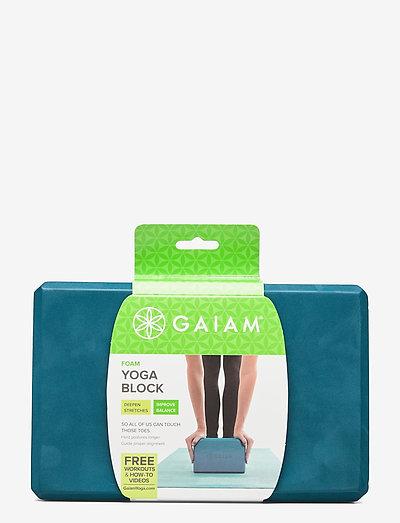 Yoga Block Blue Teal - yogablokker og stropper - teal