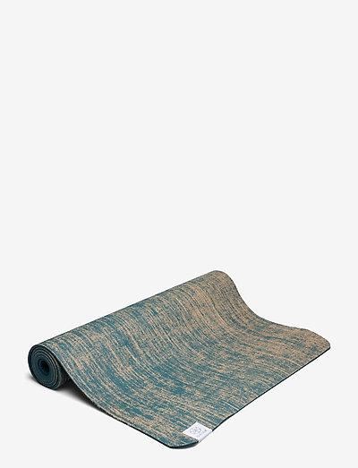 5mm Yoga Mat Jute - yogamatter og tilbehør - blue