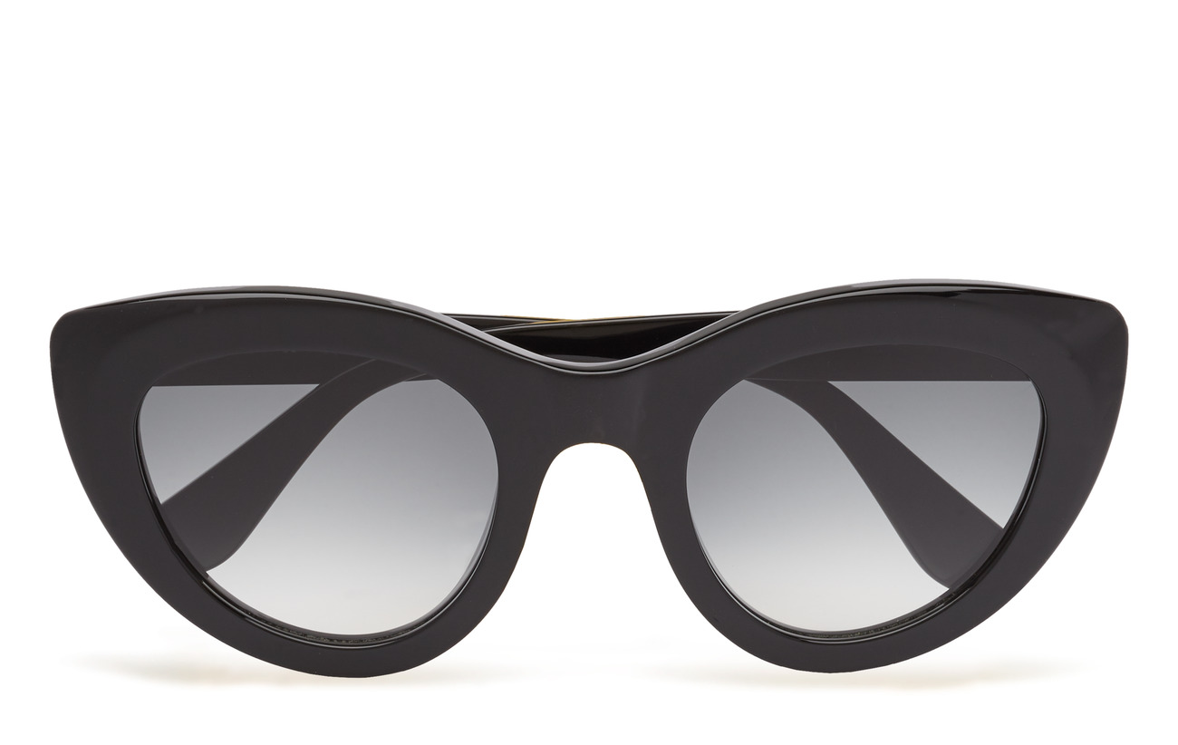 Ganni Triangle Sunglasses - BLACK