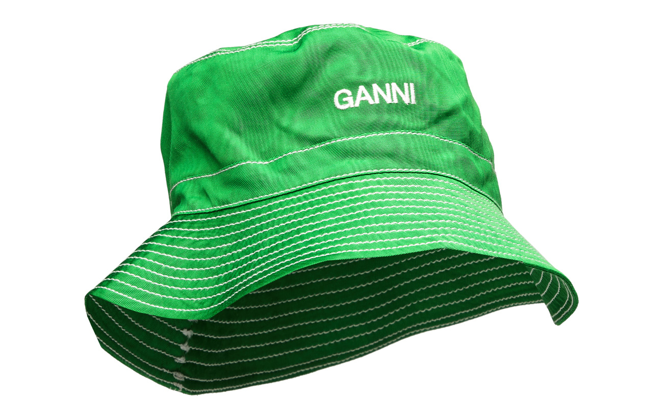 Ganni Moire Accessories - ISLAND GREEN