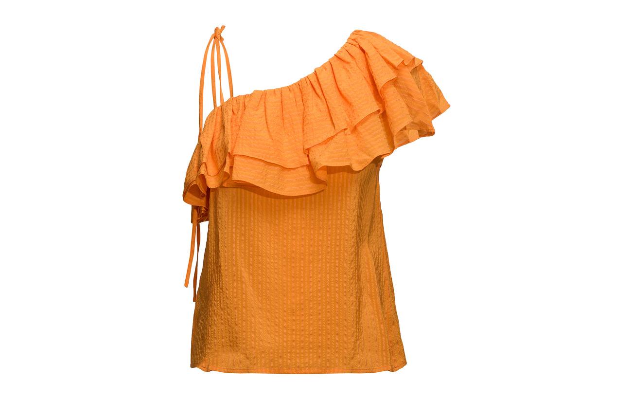 Turmeric 8 Orange Soie Seersucker 92 Ganni Coton Wilkie 86twqYxE