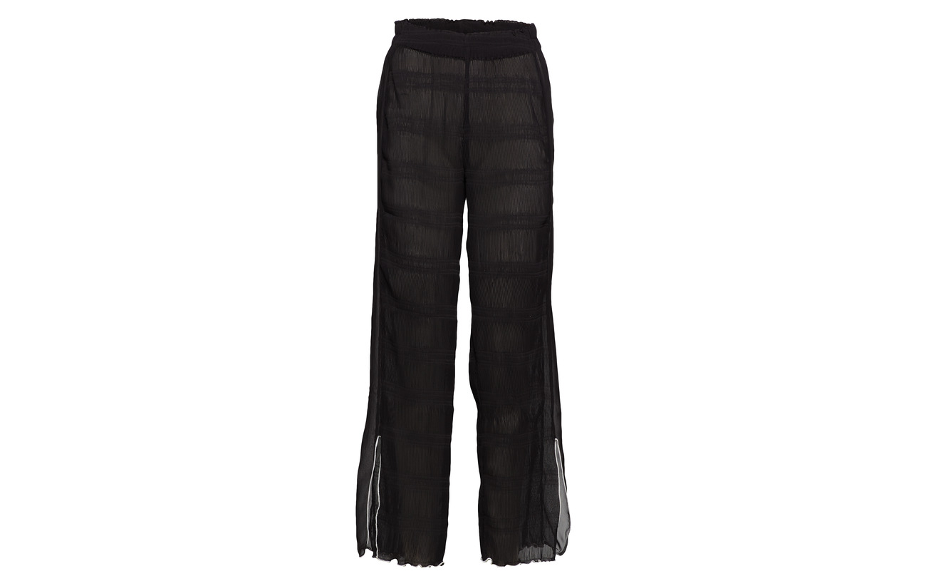 100 Georgette Black Ganni Pleated Polyester UxHTUqwP