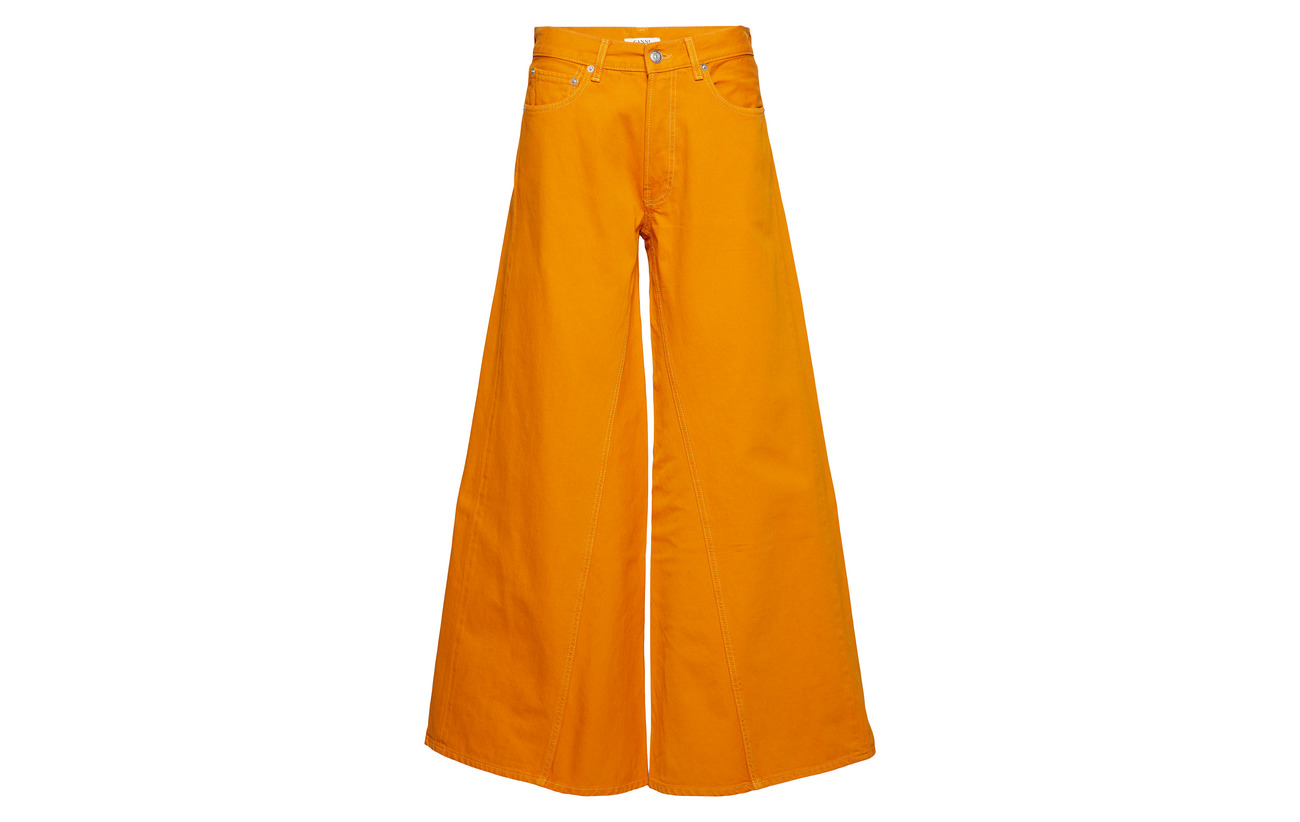 100 Runway Ganni Coton Denim Orange Turmeric pIx50aPn