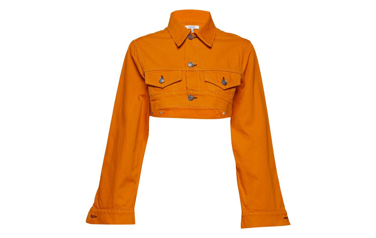 Runway Orange Denim Coton 100 Turmeric Ganni qHxAwY655