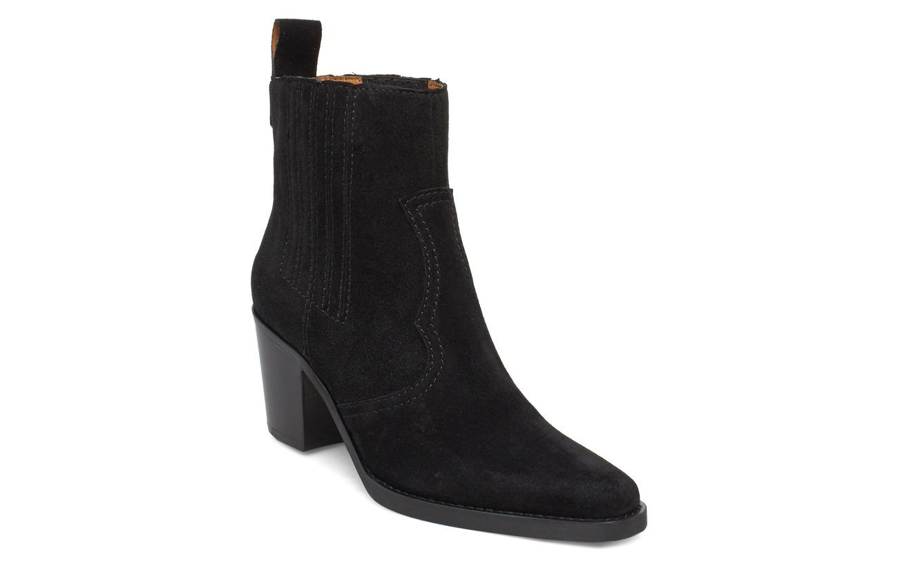 Ganni Western Ankle Boots (Black), (255