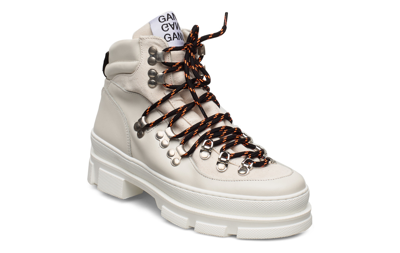 Ganni Sporty Hiking Boots - EGRET