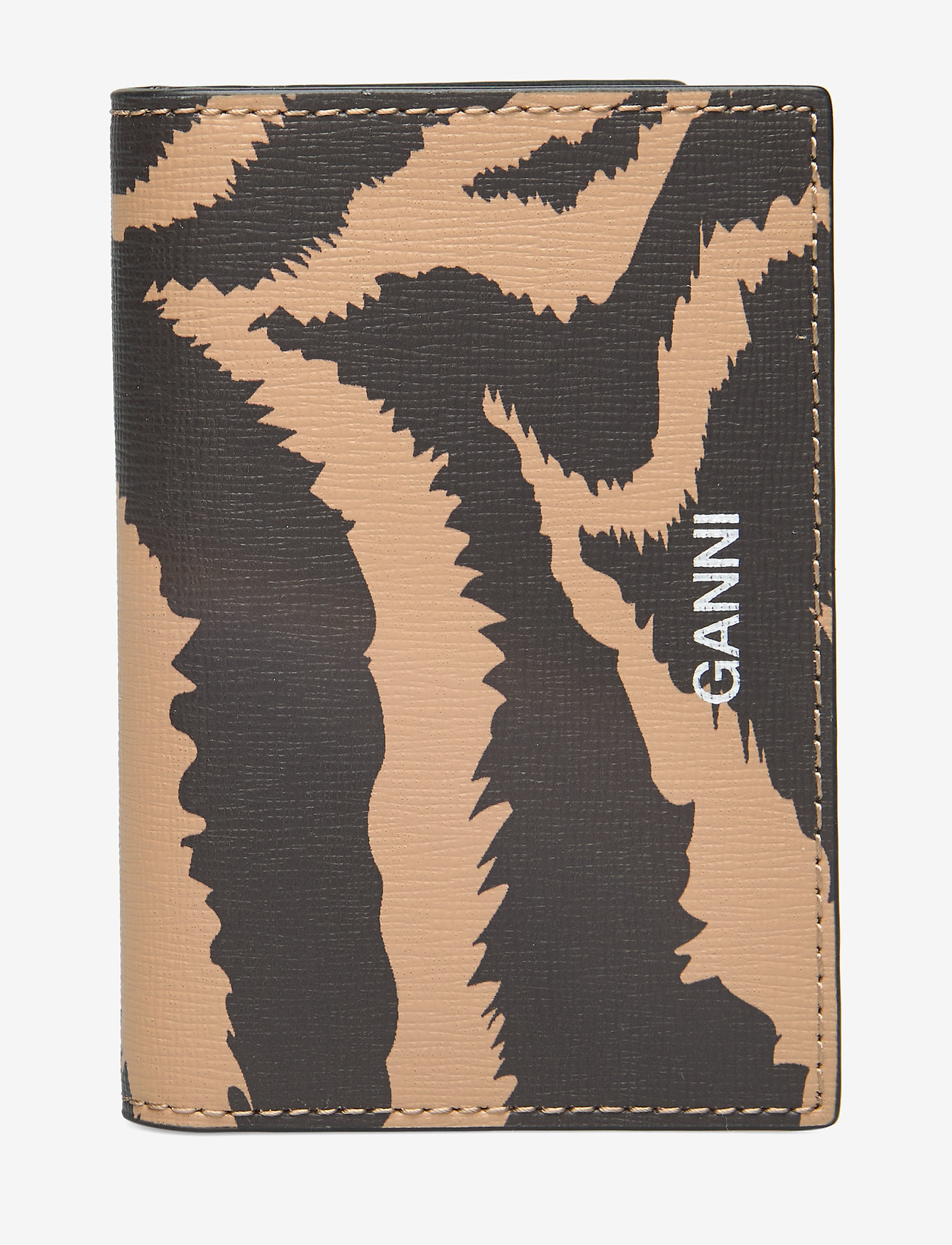 Ganni - Printed Leather Cardkeeper - kaart houders - tannin - 0