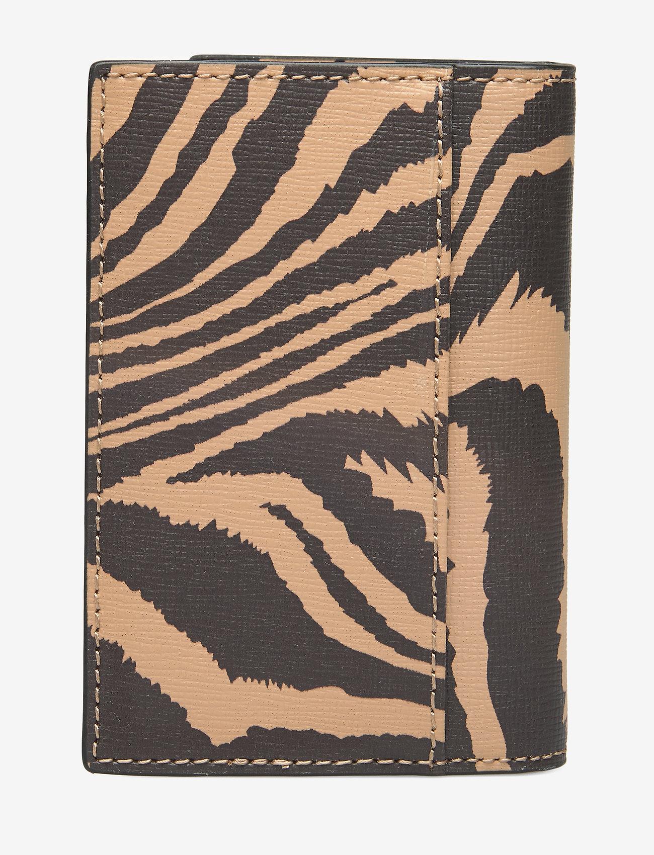 Ganni - Printed Leather Cardkeeper - kaart houders - tannin - 1