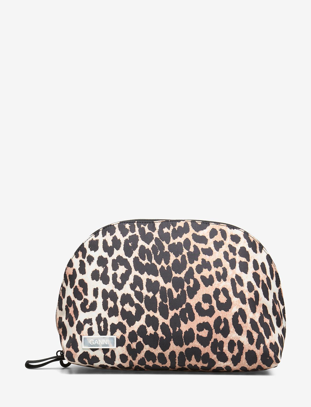 Ganni - Tech Fabric Toiletry Bag - torby kosmetyczne - leopard - 0
