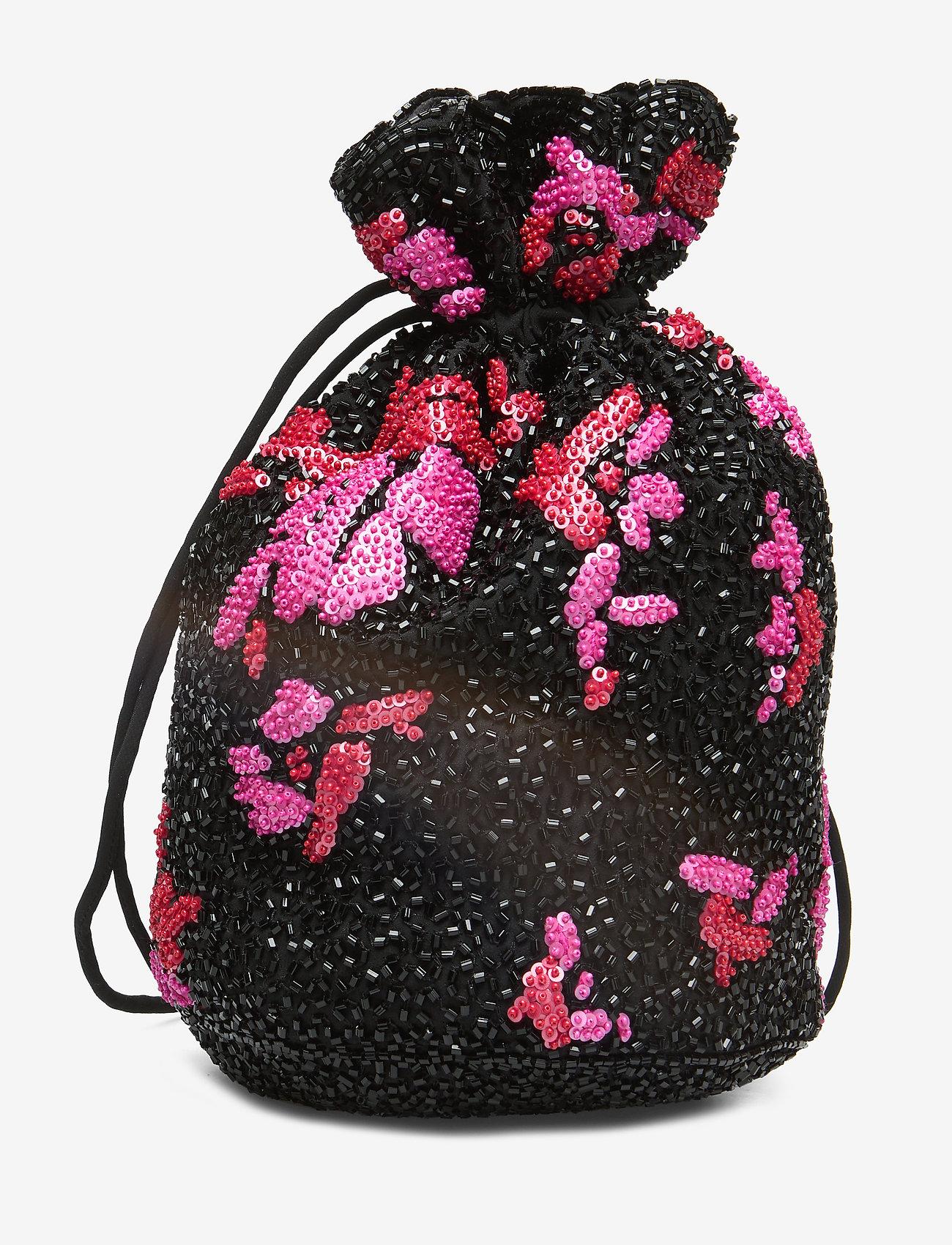 Ganni - Hand Beaded Accessories Purse - shoulder bags - black - 1
