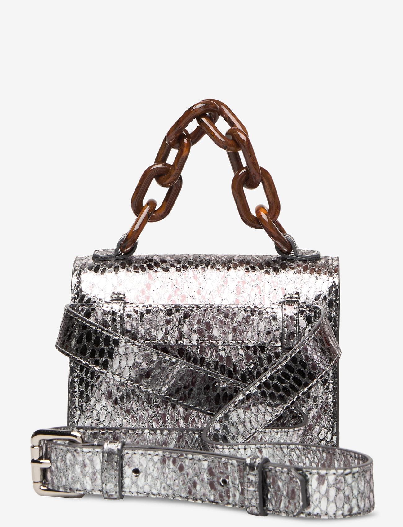 Ganni - Leather - top handle tasker - silver - 1