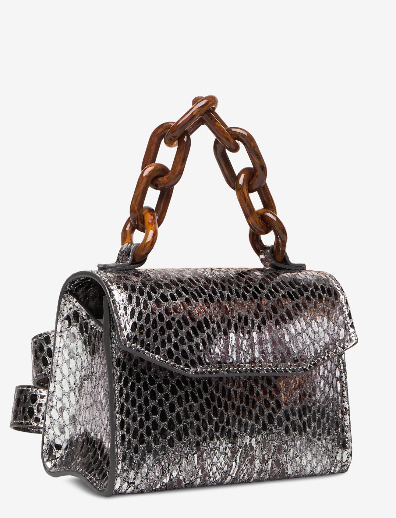 Ganni - Leather - top handle tasker - silver - 2