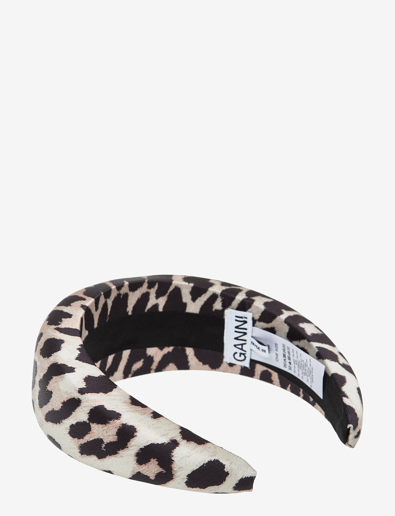 Ganni - Padded Nylon Accessories - hair accessories - leopard - 1