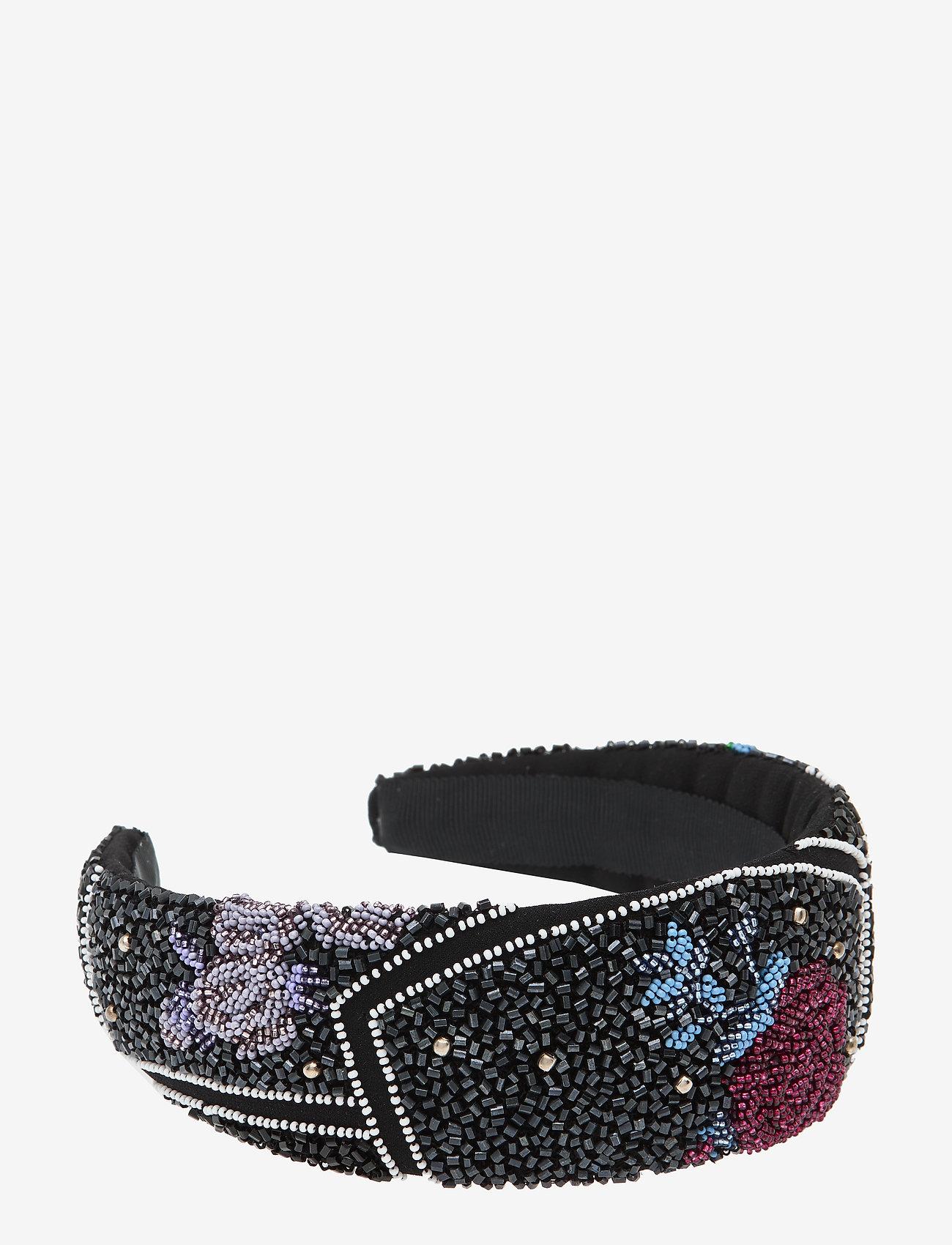 Ganni - Hand Beaded Accessories - hair accessories - black - 0