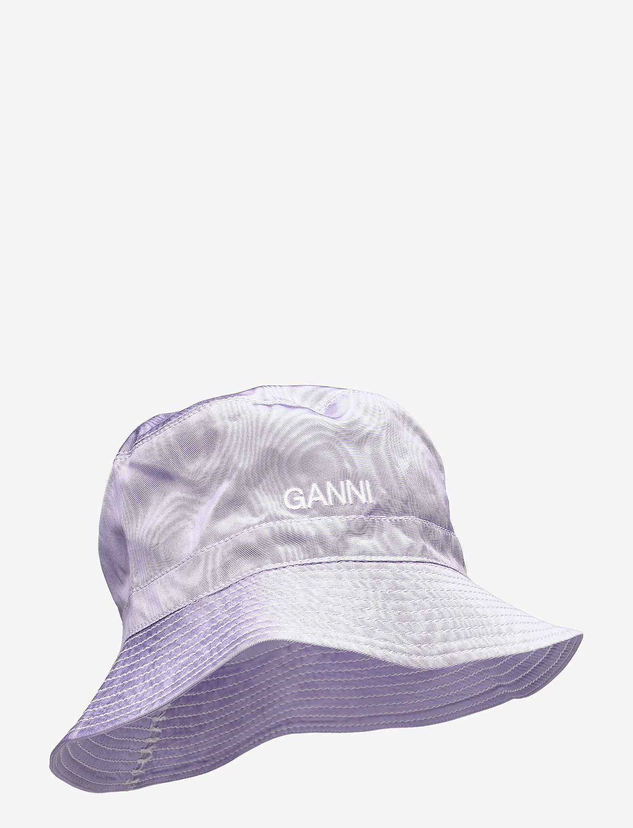 Ganni - Moire Accessories - emmer hoeden - violet tulip - 0