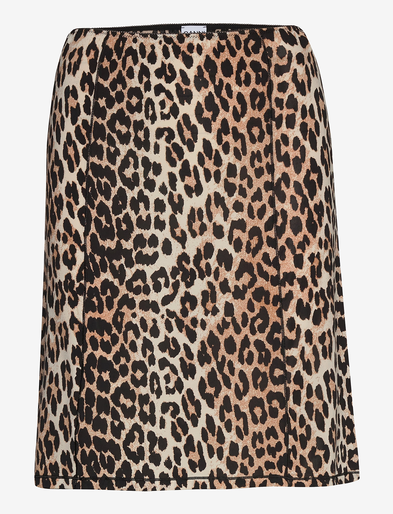 Ganni - Slip Skirt - bodies & slips - leopard - 0