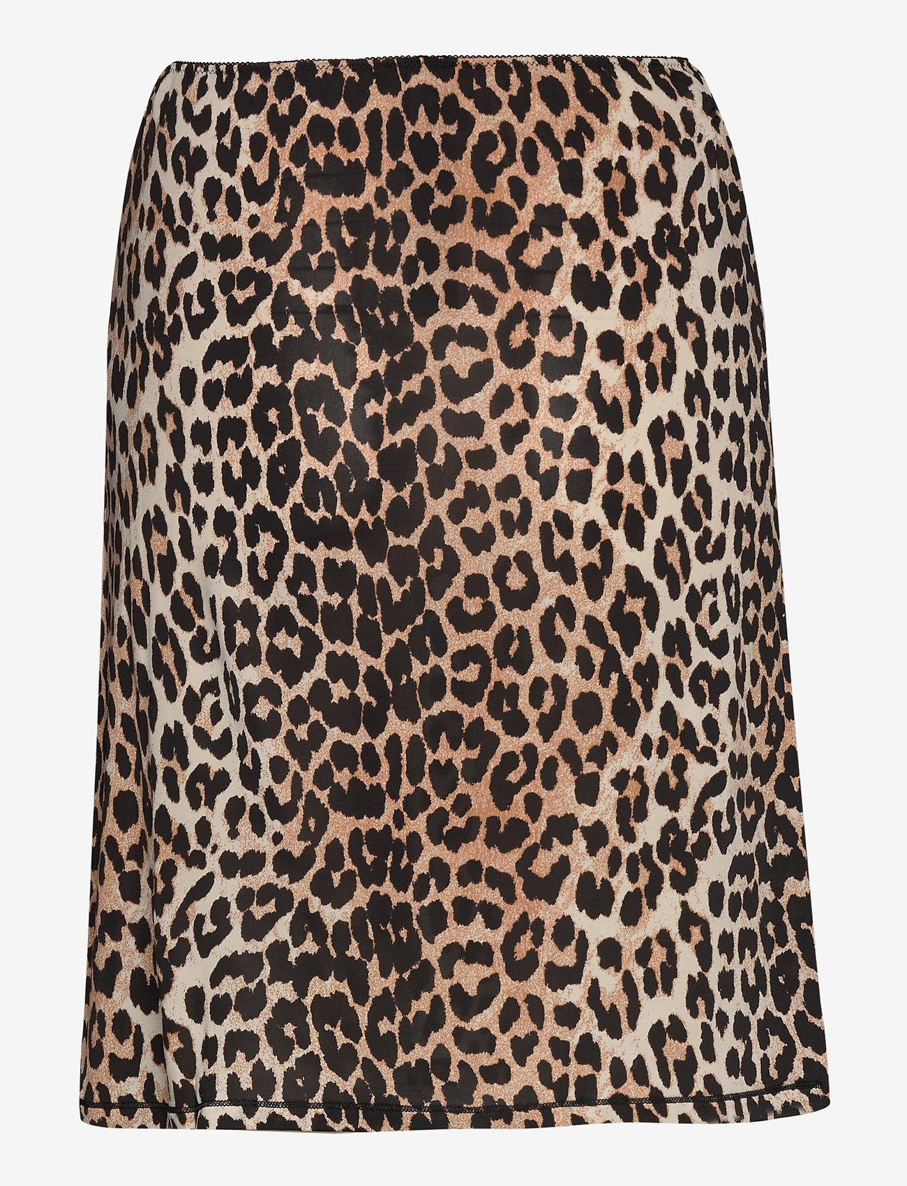 Ganni - Slip Skirt - bodies & slips - leopard - 1