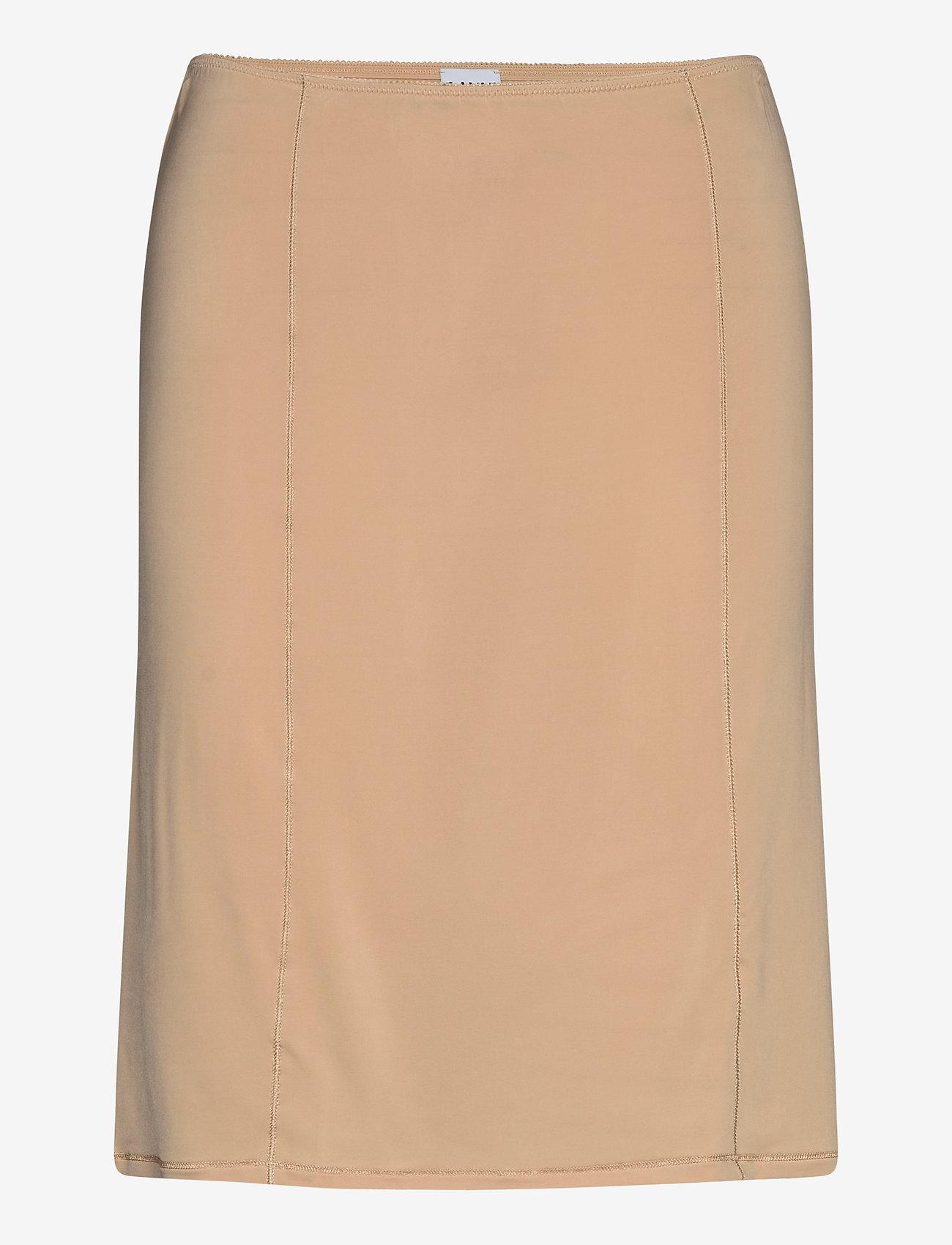 Ganni - Slip Skirt - bodies & slips - tannin - 0