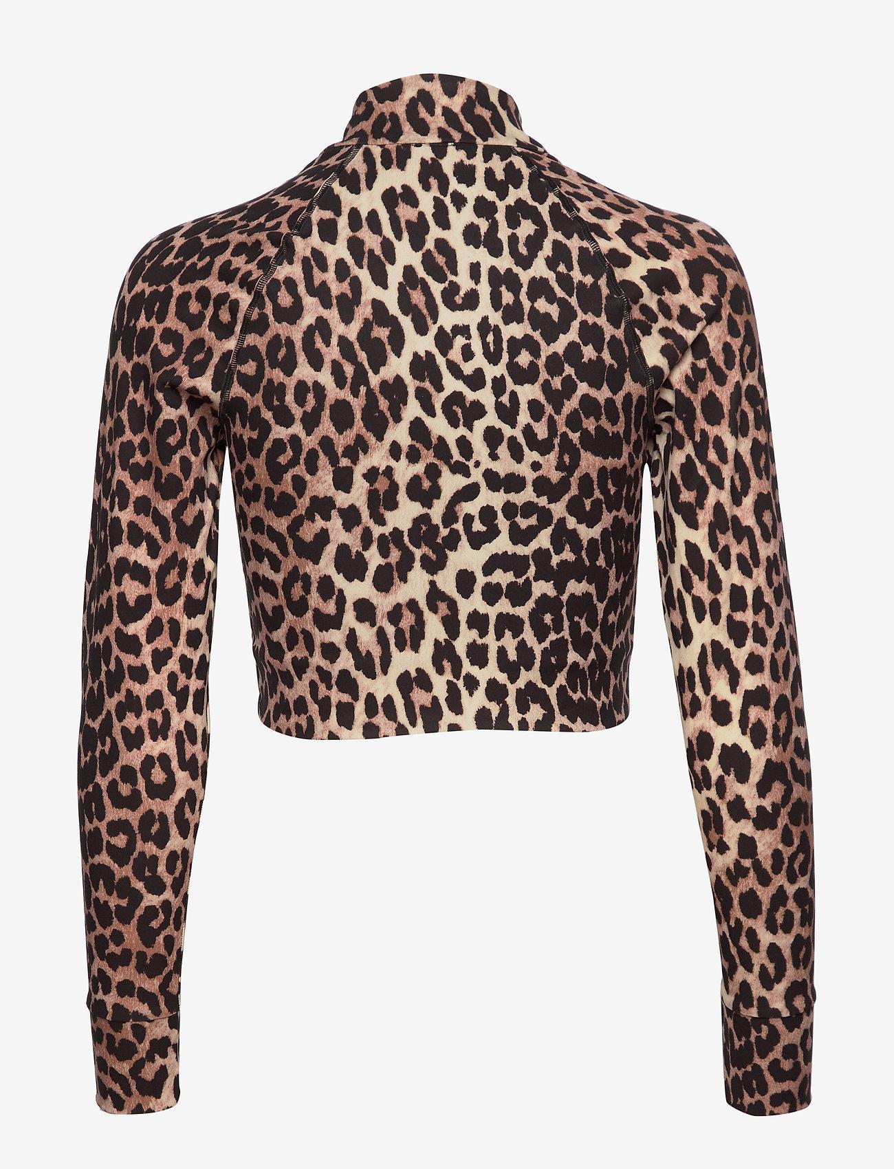Ganni - Recycled Crisp Swimwear - langærmede toppe - leopard - 1