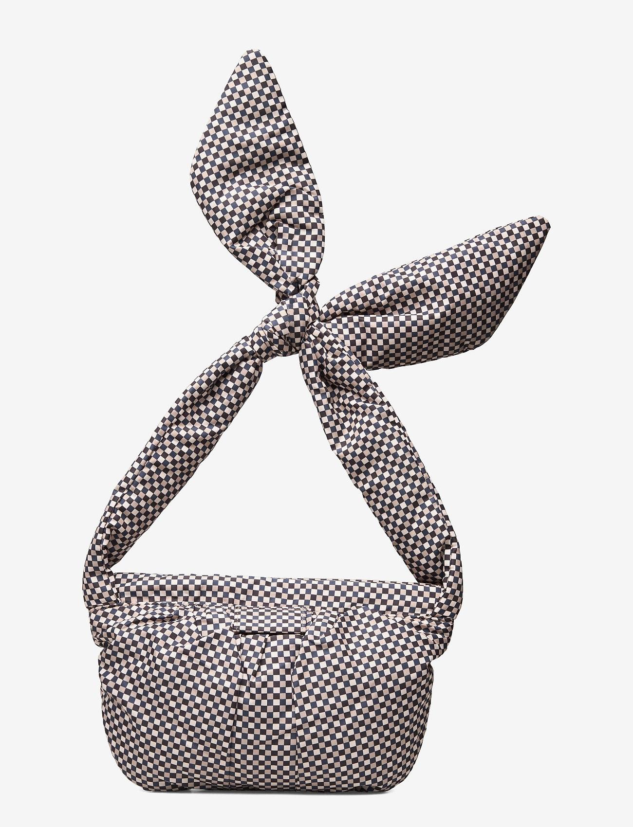 Ganni - Padded Tech Fabric - top handle tasker - tannin - 1