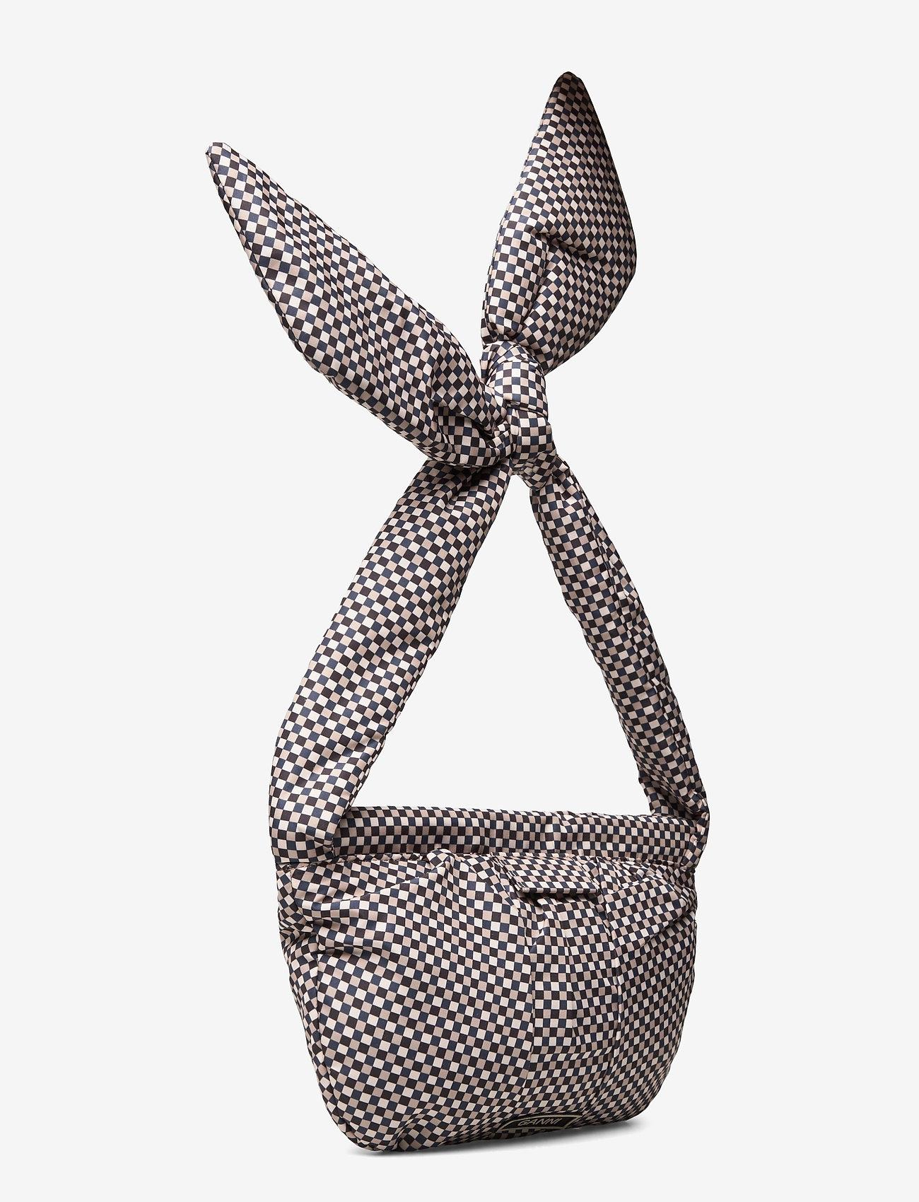 Ganni - Padded Tech Fabric - top handle tasker - tannin - 2