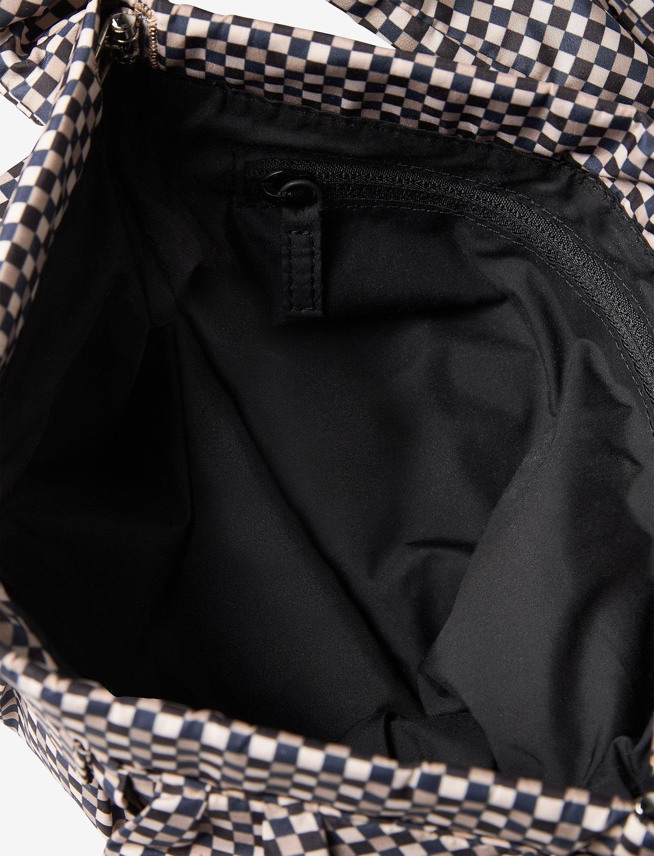 Ganni - Padded Tech Fabric - top handle tasker - tannin - 3