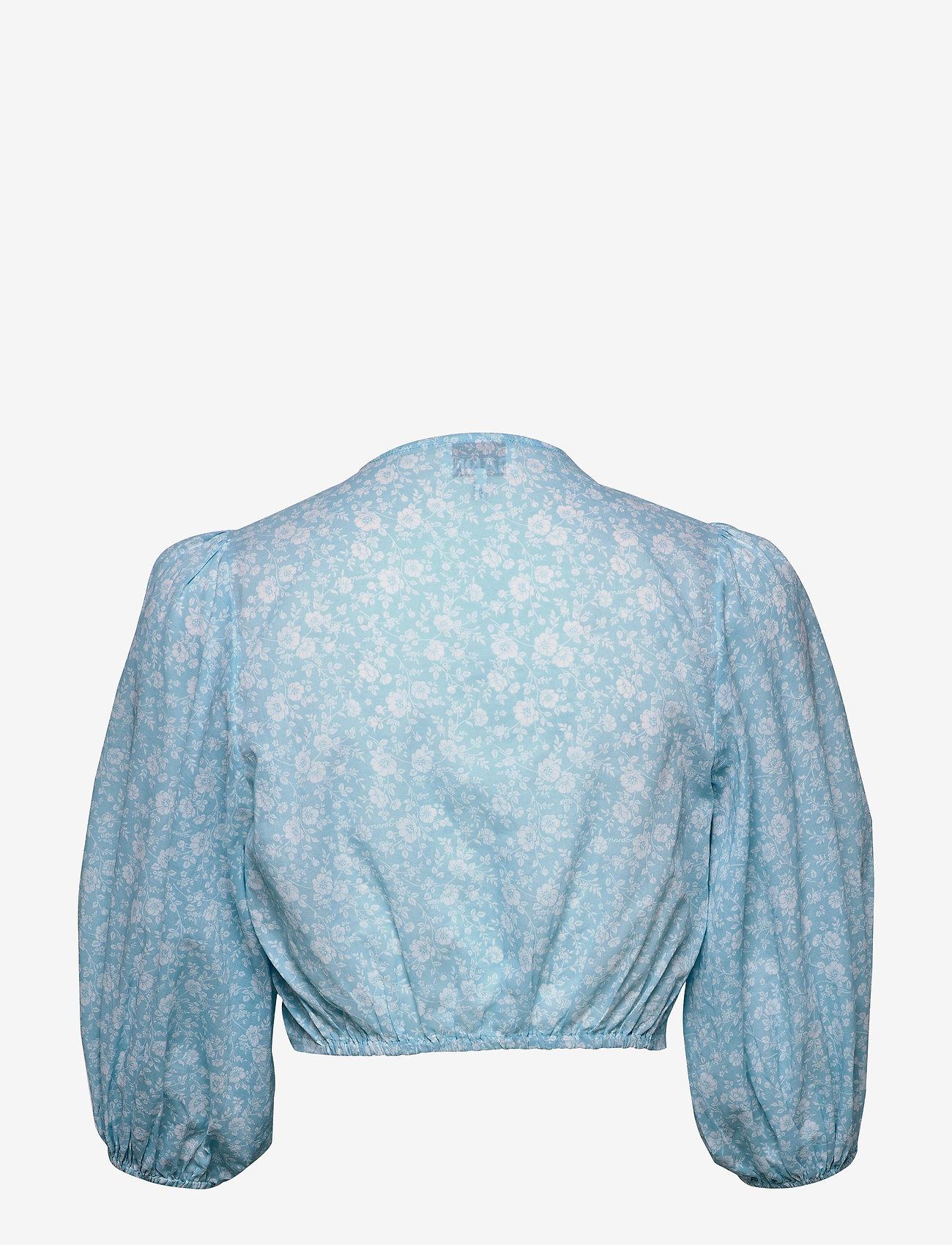 Ganni - Wrap Top - strandtøj - alaskan blue - 1