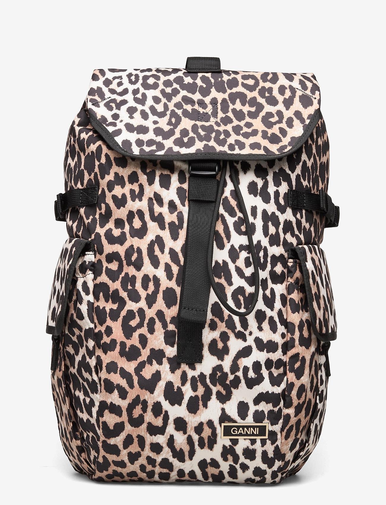 Ganni - Recycled Tech Fabric Bags - tassen - leopard - 0