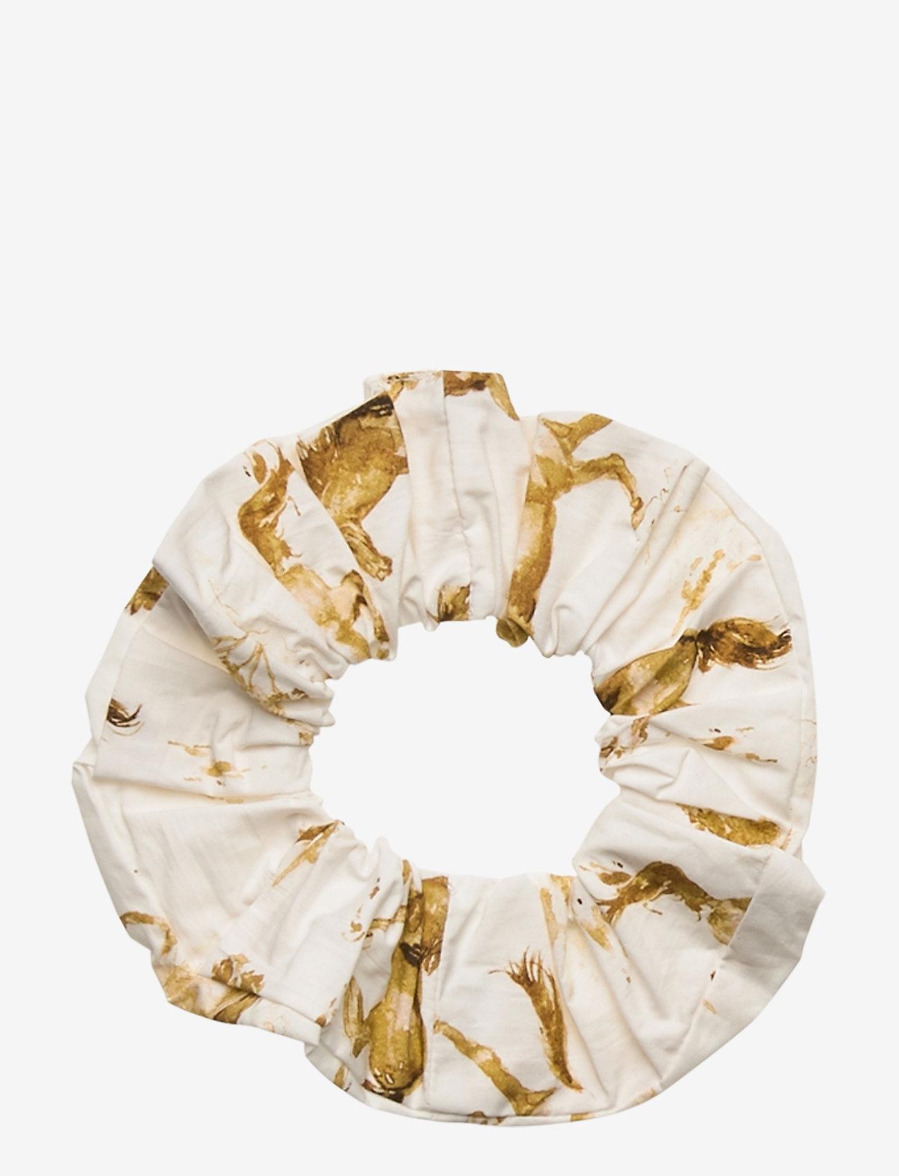 Ganni - Printed Cotton Poplin - haar accessoires - cognac - 0