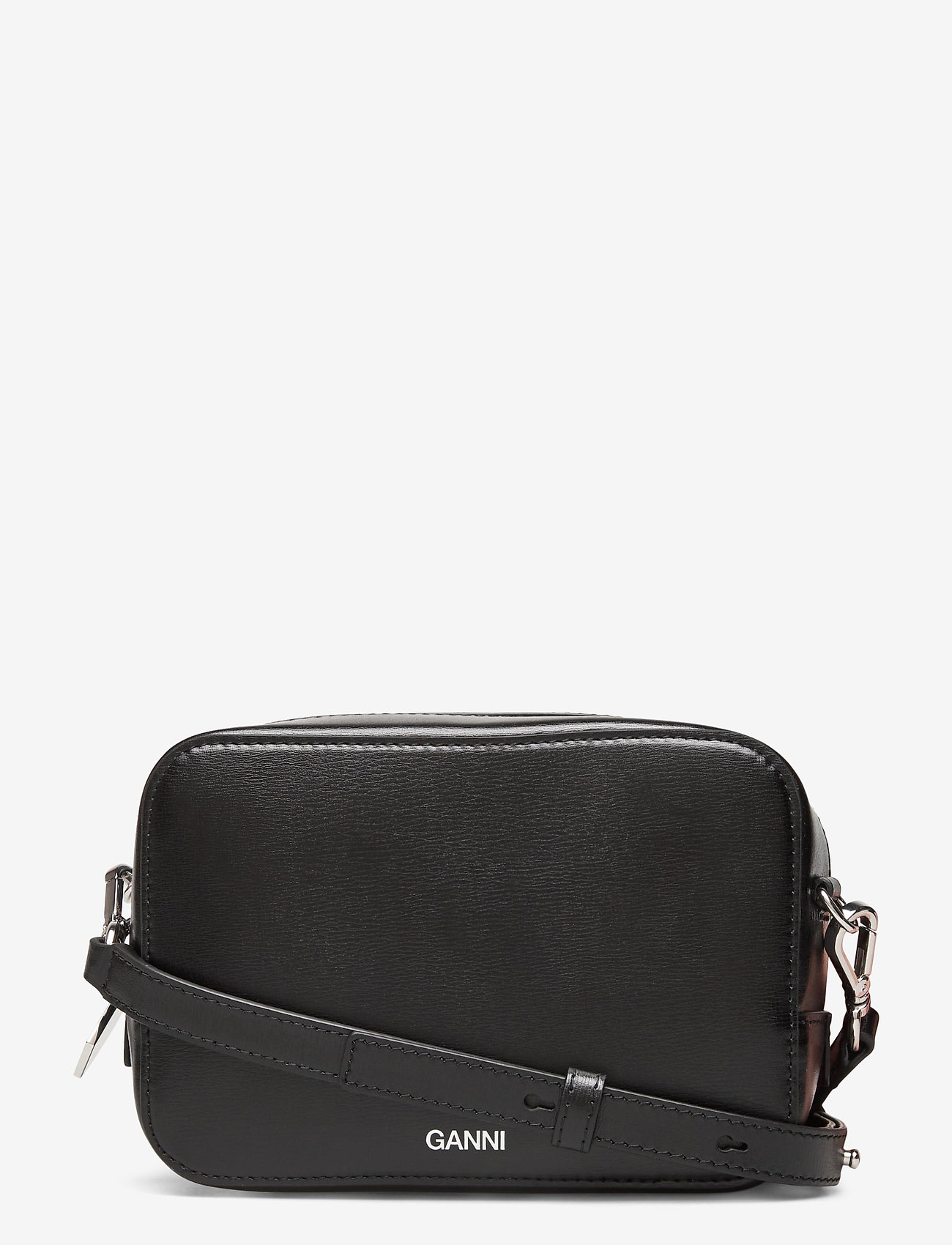 Ganni - Recycled Leather - crossbody bags - black - 0