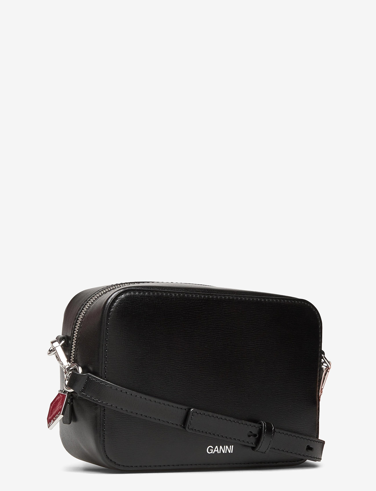 Ganni - Recycled Leather - crossbody bags - black - 2