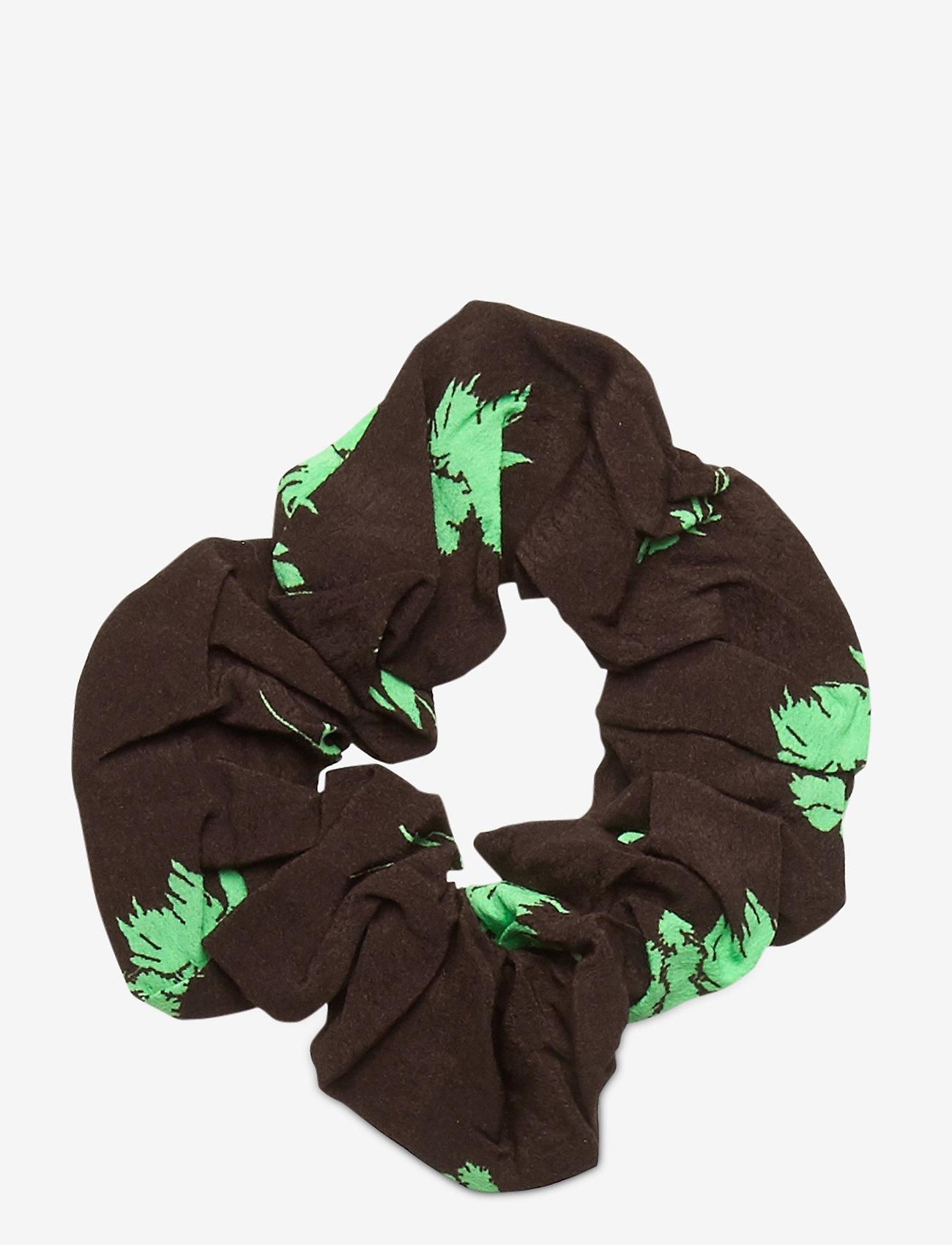 Ganni - Printed Crepe - scrunchies - mole - 0