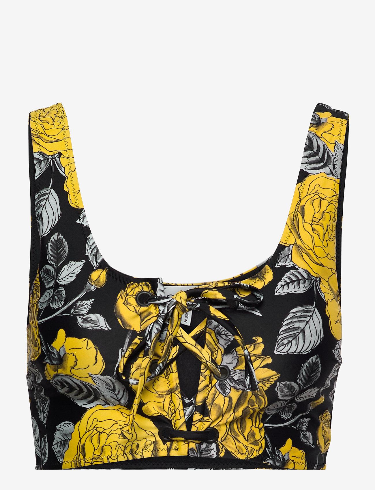 Ganni - Recycled Printed - bikini overdele - black - 0