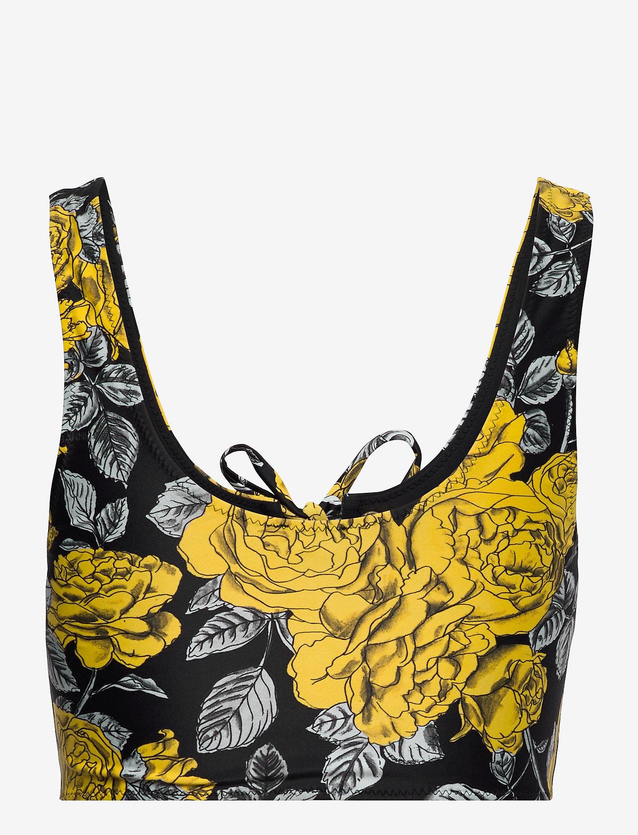 Ganni - Recycled Printed - bikini overdele - black - 1