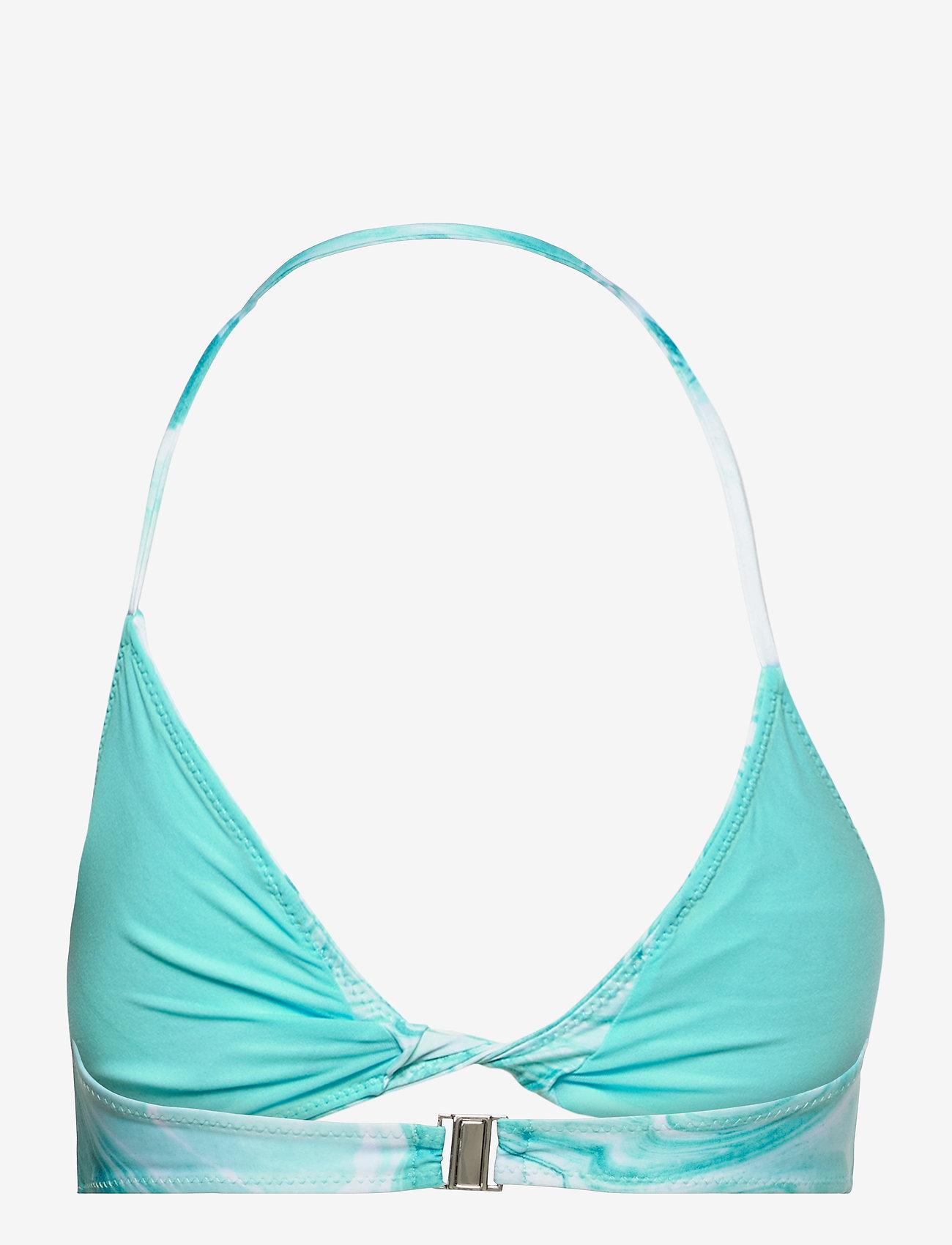 Ganni - Recycled Printed - trekant-bikini - bachelor blue - 1