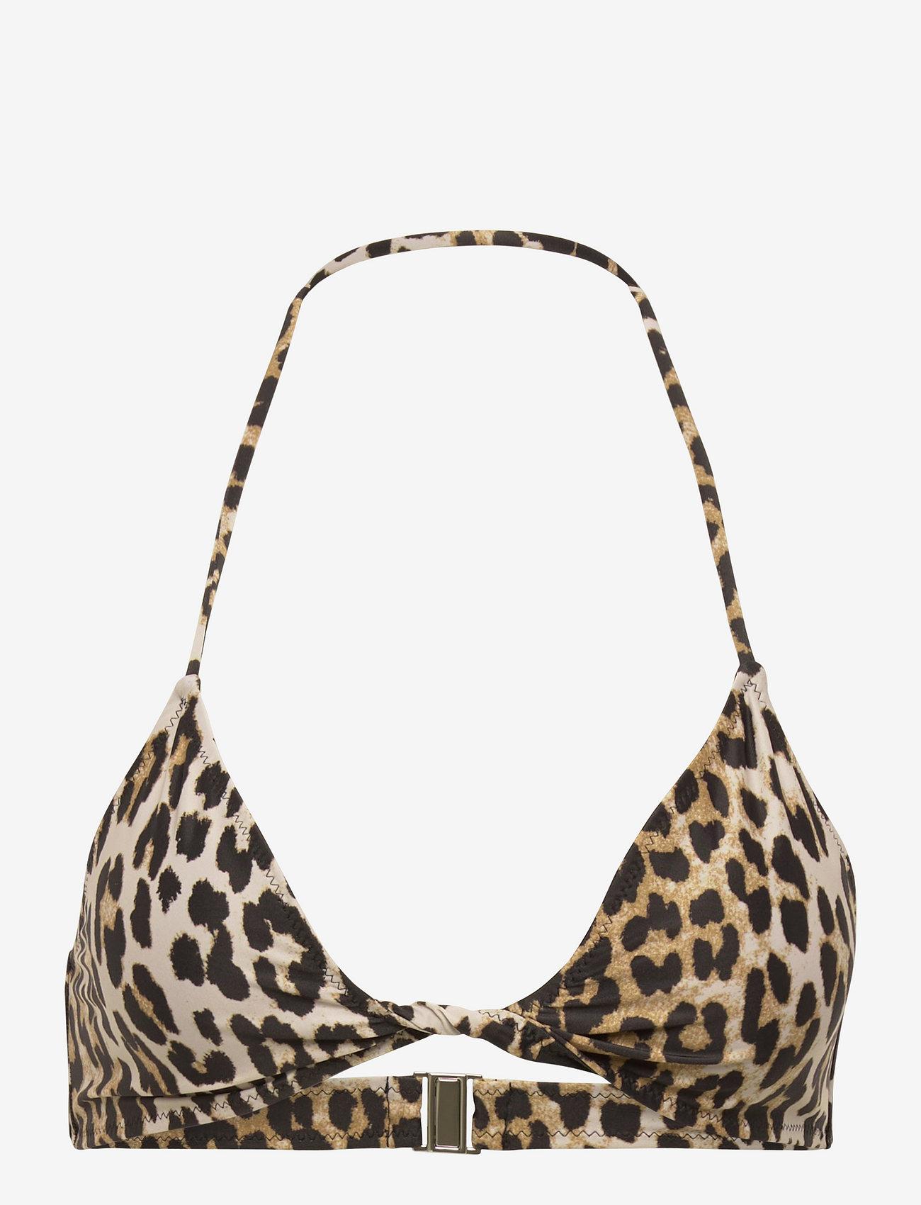 Ganni - Recycled Printed - bikini tops - leopard - 0