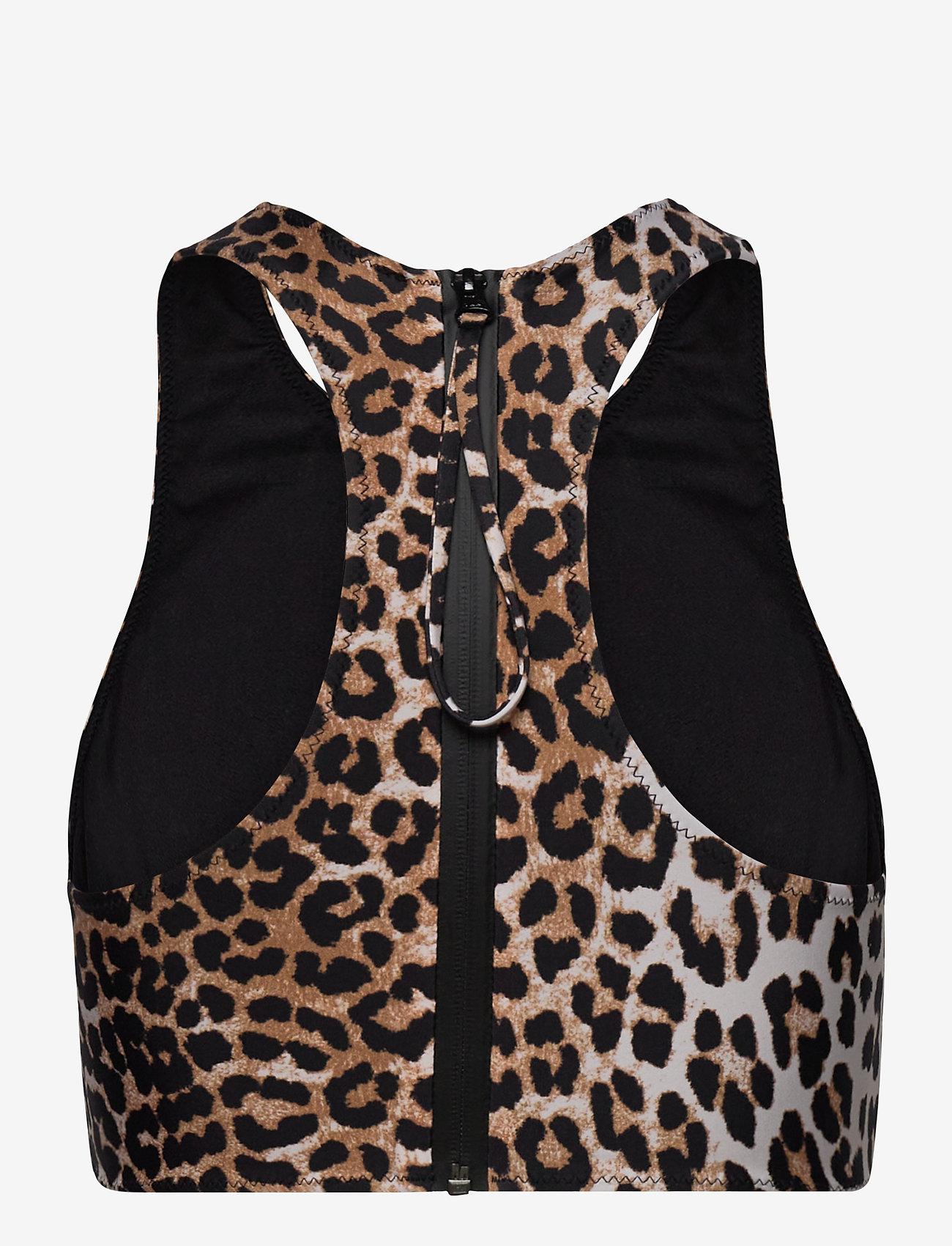 Ganni - Recycled Printed - bikini tops - leopard - 1