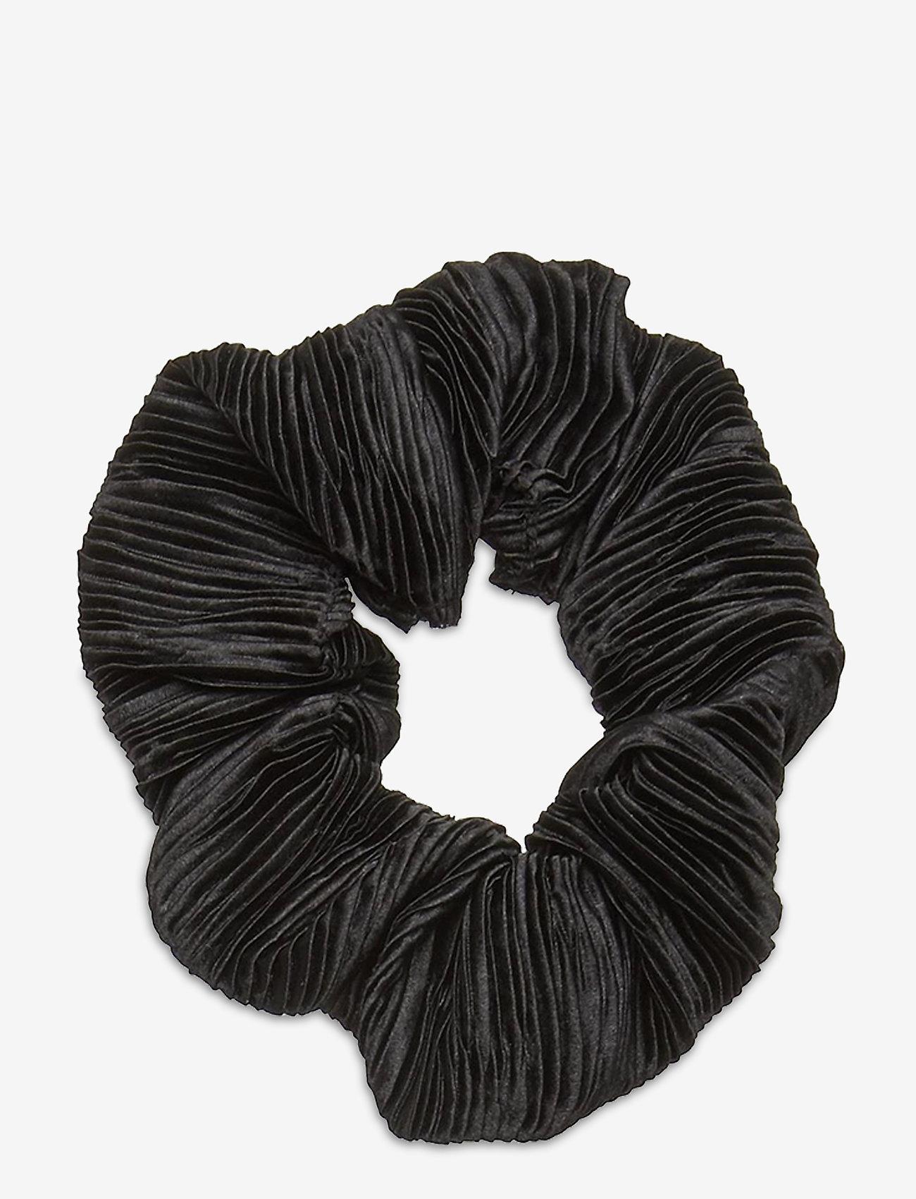 Ganni - Pleated Satin - haar accessoires - black - 0