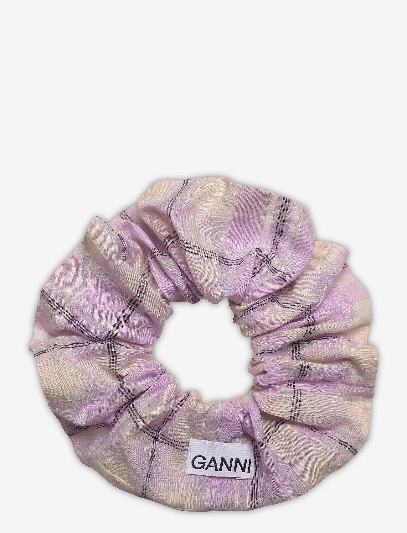 Ganni - Seersucker Check - accessories - orchid bloom - 1