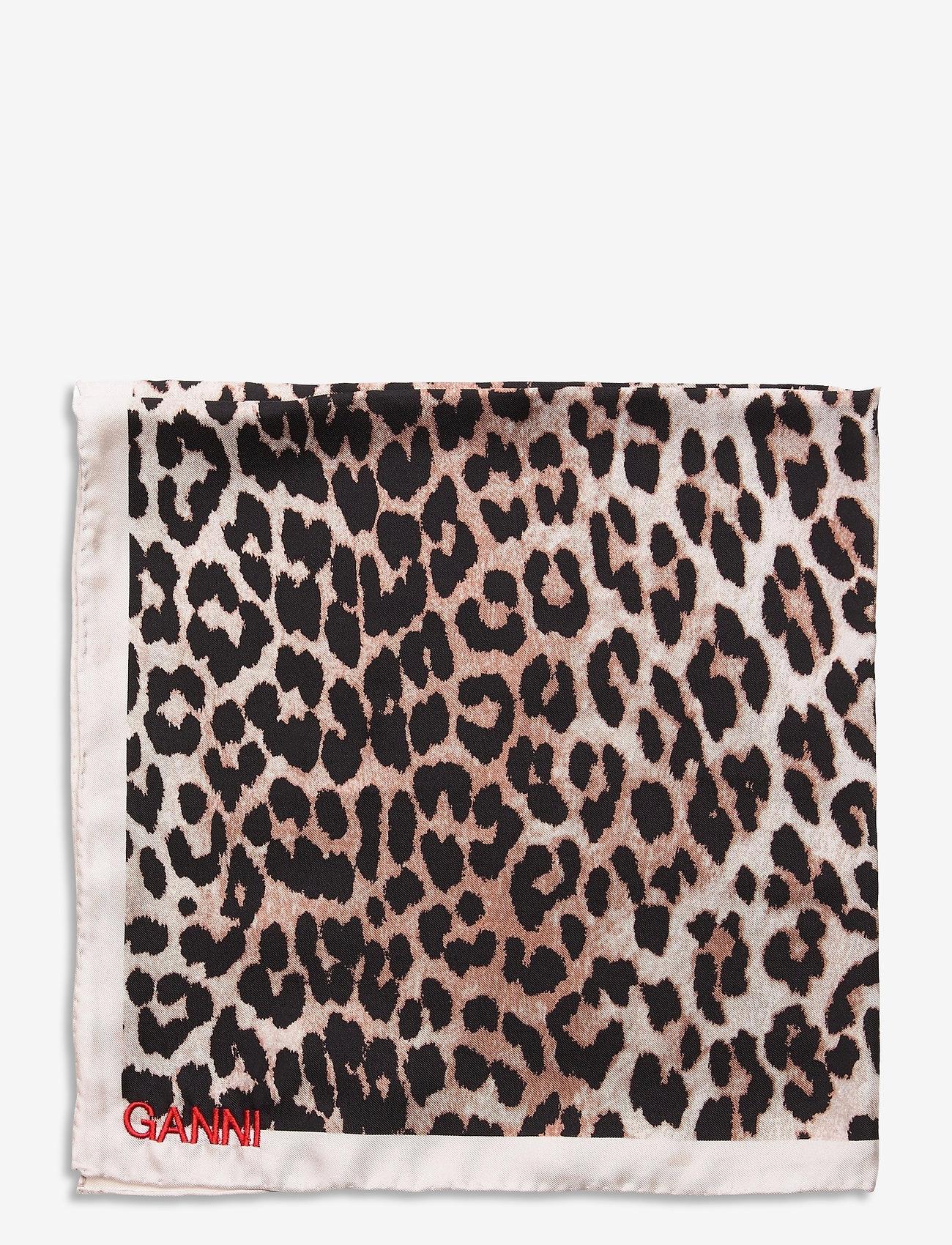 Ganni - Silk Twill - accessories - leopard - 1