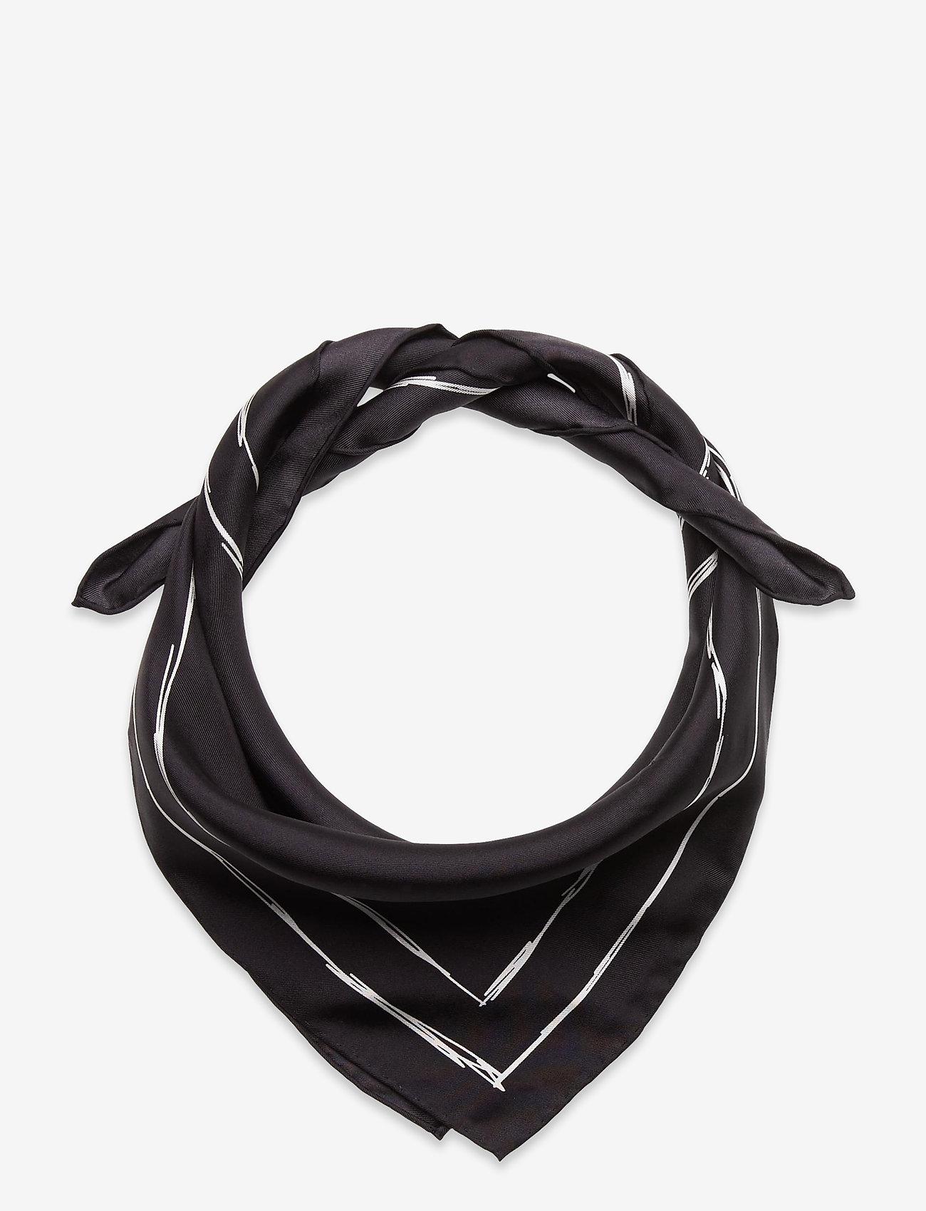 Ganni - Silk Twill - accessories - phantom - 0