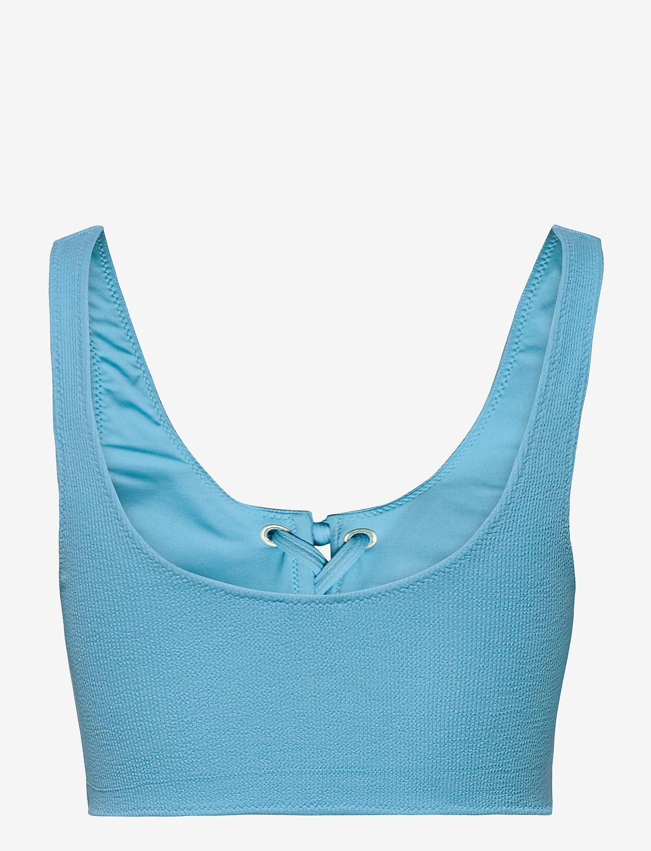 Ganni - Recycled Textured - bikini overdele - bachelor blue - 1