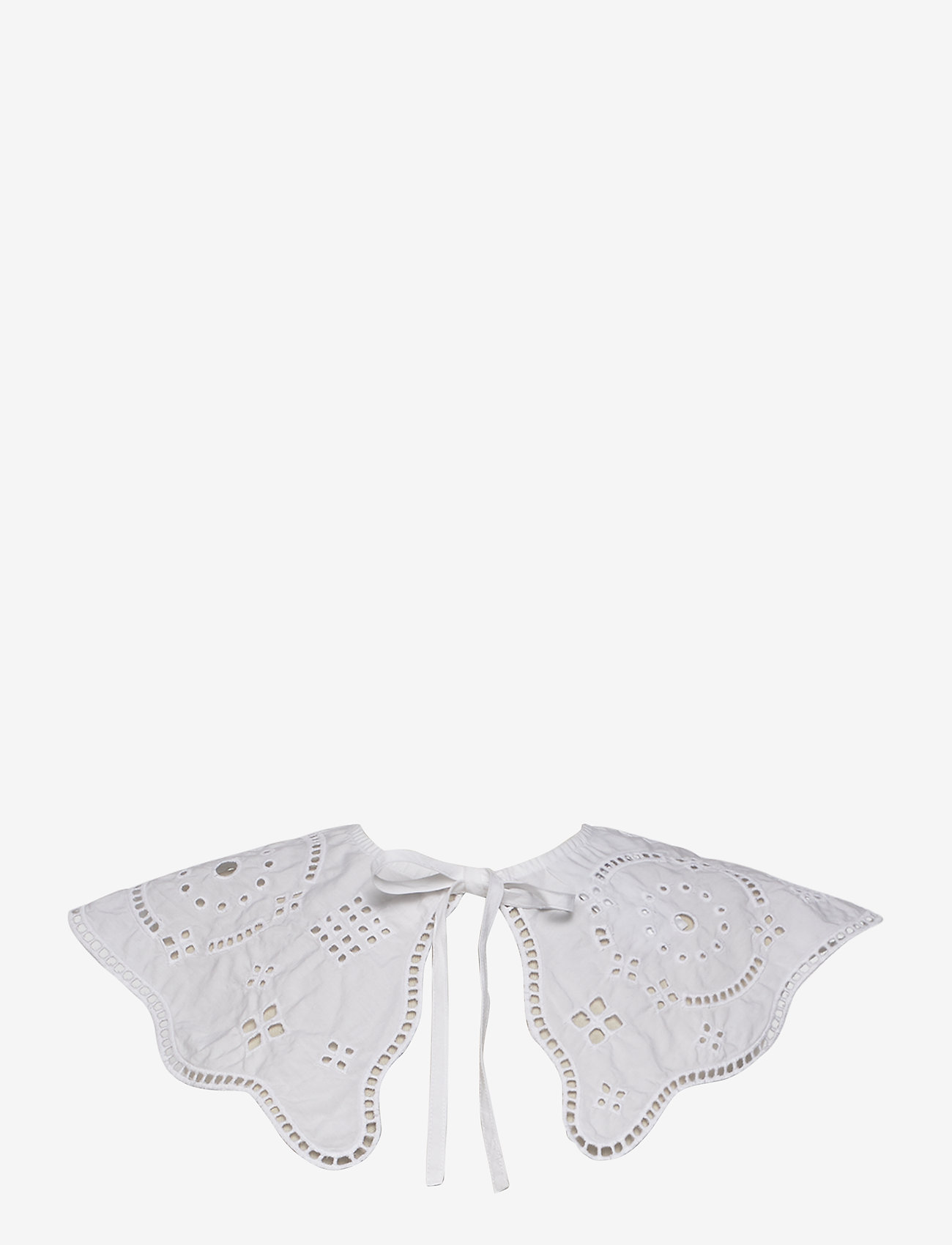 Ganni - Broderie Anglaise - accessories - bright white - 0